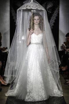 Reem Acra Bridal Spring 2014 love the umbrella veil