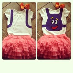 Dora outfit for Kinsley's birthday party! Finally done with it!