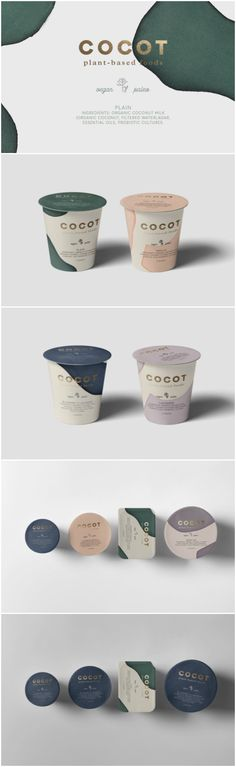 A Concept for Brand and Packaging Design for Plant-Based Foods from Mexico Design Agency: mamba studio Brand / Project Name: Cocot Location: Mexico Category: #Dairy #Food  World Brand & Packaging Design Society