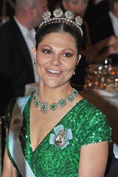 Crown Princess Victoria wearing the 4 Button Tiara