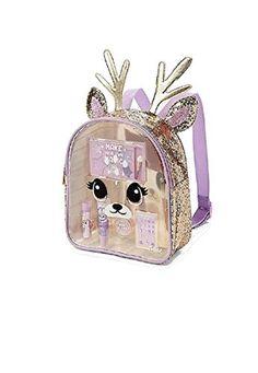 Justice For Girls Deer Glitter Make-Up Cosmetic Backpack Set - skincare. Justice Backpacks, Justice Bags, Justice Store, Justice Accessories, Girls Accessories, Clothing Accessories, Tween Girls, Toys For Girls, Justice Makeup