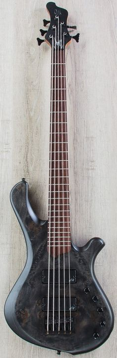 Mayones BE Elite EP 5 - 5-String Electric Bass, Rosewood Fingerboard, Hard Case - Trans Black Satin - Bass - Instruments