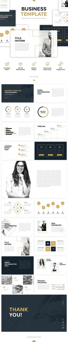 Free Download #artBusiness #Template for #PowerPoint or #keynotes. 20 Unique slides, easy to edit, professional design. #powerpointtemplates #slides #art #golden #pptx #template #freebies #free