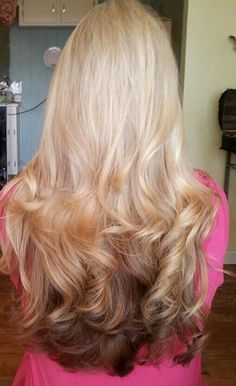 Image result for blonde to strawberry blonde reverse ombre