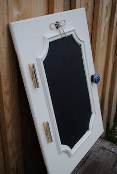 Upcycled rustic chalkboard cabinet door- Rustic home decor - Cheap shipping.. $52.00, via Etsy.
