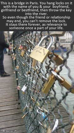 Bucket List: Must visit the lock bridge in Paris, France <3