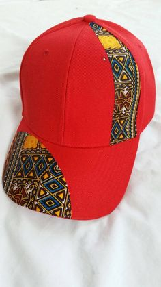 Ekoti  Unisex Ankara cap red by LiPaSabyMNK on Etsy