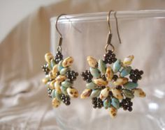 Image result for seed bead diamond earrings