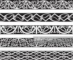 Kowhaiwhai Maori seamless patterns in black. Polynesian Art, Polynesian Tattoo Designs, Maori Tattoo Designs, Celtic Tattoos, Tribal Tattoos, Maori Tattoos, Borneo Tattoos, Ankle Tattoos, Jeep Tattoo