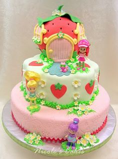 Confections, Cakes & Creations!: A Berry Beautiful Strawberry Shortcake Birthday Cake!