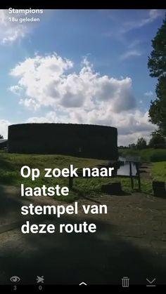 """""""Gisteren fietsten we http://www.stampions.nl/route5 : kijk nog even op Snapchat ('stampions') voor de bewegende beelden"""" #Snapchat"""