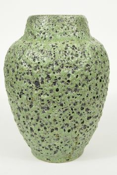 Green ES Fat Lava Vase