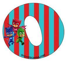 Hermoso Abecedario de los Héroes en Pijamas, o Pj Masks, como más te guste llamarlo. Todas las letras que contienen aCatboy, Gekko y Owlette se encuentran subidas al sitio en perfecta calidad de i… Girl Themes, Pj Mask, Printable Banner, Mask Party, Peppa Pig, Boy Or Girl, Clip Art, Symbols, Letters
