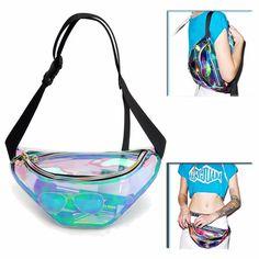 Universal Rainbow Transparent Bag Waterproof Bag Punk Fanny Pack Punk Bum Bag Purse Phone Case