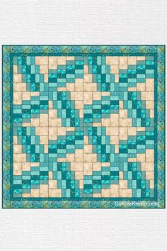 Swirly quilt pattern can be made in just one day! It uses 5 coordinating fabrics and a neutral.Swirly quilt pattern can be made in just one day! It uses 5 coordinating fabrics and a neutral. Bargello Quilts, Scrappy Quilts, Strip Quilts, Quilt Blocks, Quilting Projects, Quilting Designs, Quilting Ideas, Baby Quilts To Make, Quilt In A Day