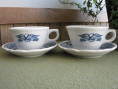 Syracuse China 1776 Cups and Saucers Americana by LazyYVintage