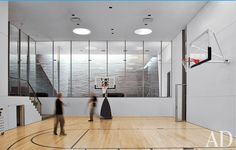 my dream house... would have a basketball court inside of it. {yes, yes it will!} Window idea.