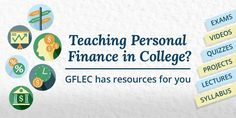 About the Course GFLEC has developed materials for a new personal finance course at an institution of higher education, with the support of the Calvin K. Financial Literacy, Higher Education, Quizzes, Personal Finance, Teacher, Videos, Reading, College Teaching, Professor