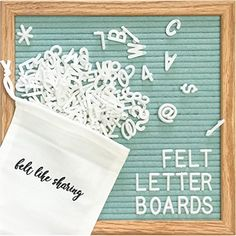 Amazon.com : Gray Felt Letter Board 10x10 Inches. Changeable Letter Boards Include 300 White Plastic Letters & Oak Frame. : Office Products