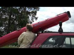 Suction cup kayak loader - YouTube