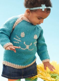 Knit Bunny Pullover | FREE Knit Sweater Pattern from Joann.com