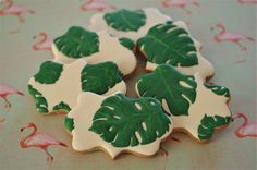 Monstera Leaves Cookie Tutorial | doctorcookies