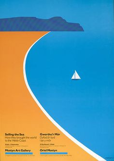Vintage travel beach poster. 1987 Tom Eckersley www.varaldocosmetica.it