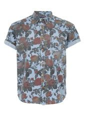 Multi Coloured Rose Print Oversized Short Sleeve Shirt  http://tpmn.co/VaRz1Q