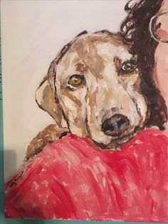 Banjo & Grandma #pet paintings give a gift that pet owners will cherish❤️❤️$149.99 satisfaction guaranteed-will send photo of painting for approval   .All I need us your digital photo !!!Patty Margalotti @warriorwoman1001@yahoo.com