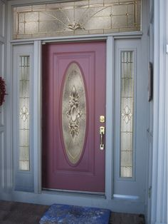 Entry Door with Radiant Orchid #pantone #coloroftheyear #2014