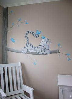 Teigetje babykamer muurschildering. Leuk om te combineren met Teigetje babykamer spulletjes. Gemaakt door BIM Muurschildering, kan naar wens aangepast worden.
