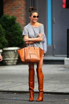 Thigh-high boots ==> except I'd wear pants!!
