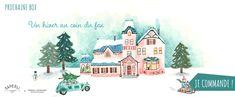 Coffret cadeau Noël hiver au coin du feu Illustrations, Diy, Painting, Paper Mill, Winter, Love Birds, Bricolage, Illustration, Painting Art