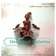 https://flic.kr/p/D1rhWA | Steampunk Ballerina | Polymer clay Steampunk brooch - More free polymer clay tutorials on michellemaya2005.wordpress.com/