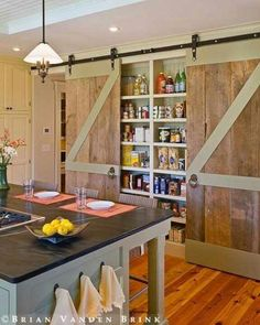 Love this pantry idea!!!! Love the doors and they would really go with the rest of the house