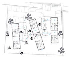Galeria de Residencial La Closeraie / Edouard François - 5 Module Architecture, Architecture Site Plan, Architecture Drawings, Architecture Graphics, Residential Architecture, Edouard Francois, Master Thesis, Hotel Floor Plan, Architectural House Plans
