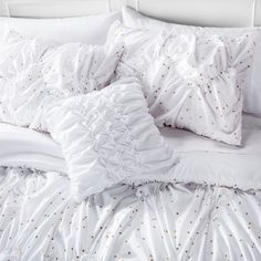 Metallic Dot Bed in a Bag with Sheet Set - Xhilaration™ :Target  - Light and airy, love it!