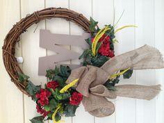 My Spring burlap wreath