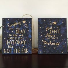x 10 in canvas -Black, blue, and purple background with metallic gold lettering -Perfect for sorority big-little gifts and general home decor! Canvas Art Quotes, Diy Canvas Art, Canvas Ideas, Canvas Canvas, Galaxy Quotes, Brush Lettering Quotes, Small Canvas Paintings, Nifty Crafts, Sorority Big Little