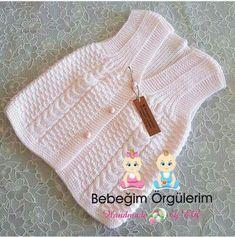 Sebahat Kutlu Sebahat Kutlu, the Knit Baby Dress, Crochet Baby Clothes, Crochet Baby Shoes, Sweater Knitting Patterns, Knit Patterns, Baby Knitting, Diy Crafts Crochet, Knit Baby Sweaters, Cardigan Sweaters