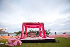 Pink Mandap & The Haiwaiian Beach