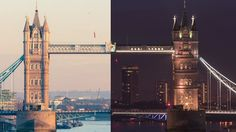 This split-screen video of London by day and night is right tasty