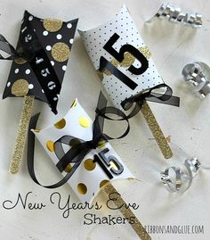 DIY New Year's Eve Shaker Boxes
