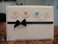 Heart Card, love the simplicity