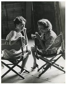 "Bette Davis & Joan Crawford ""We did not. In the first place we didn't have time. We had a sixteen day shooting schedule. We were too professional for this. Out of spite we didn't have a feud because everybody longed for it""    -Bette Davis on her supposed feud with Joan Crawford"