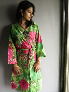 Knee length Robe Style Made From E6 Fabric Pattern