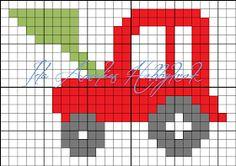 Ida Amalies Hobbykrok: Diagram Knitting Patterns Free, Knit Patterns, Free Knitting, Beading Patterns, Cross Stitch Patterns, Pattern Images, Pearler Beads, C2c, Diagram