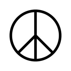 The CND (Campaign for Nuclear Disarmament) symbol, designed by Gerald Holtom in 1958. It later became a universal peace symbol used in many different versions worldwide.