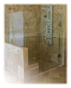We specialize in frameless glass shower enclosures and shower doors utilizing a proprietary system of glass embedment for tile, stone, granite & marble showers. Frameless Shower Enclosures, Glass Shower Enclosures, Frameless Shower Doors, Glass Shower Doors, Glass Showers, Glass Doors, Shower Over Bath, Shower Tub, Custom Shower Doors