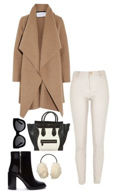 """""""Nyc"""" by thepinkcatapillar on Polyvore featuring River Island, Harris Wharf London, Forever 21, CÉLINE, Uniqlo and Karen Walker"""